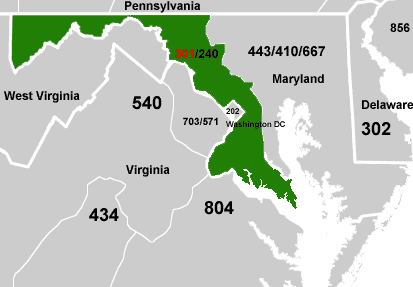 Area Code USAcom - Area code 301 in usa