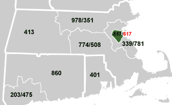 617 Area Code USAcom - Map Of Us Phone Area Codes