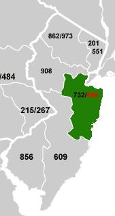 848 area code usaâ