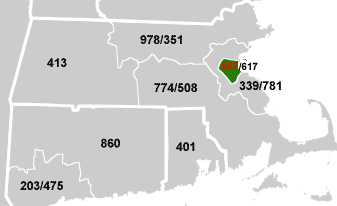 Area Code USAcom - Map of us area codes