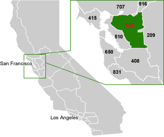 Map Of Area Code Covered Area USAcom - Area codes usa map