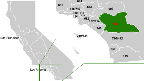 Perris Zip Code Map.951 Area Code Usa Com
